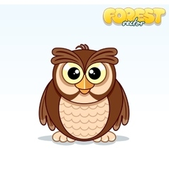 cute cartoon owl funny animal vector image