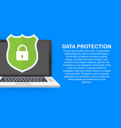 Data protection privacy and internet security vector