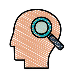 drawing head profile search vector image