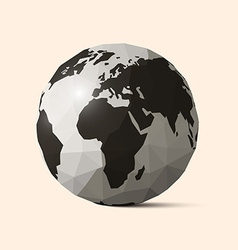 Earth - World Globe Crumpled Paper vector image