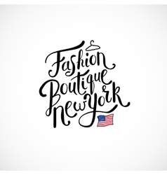 Fashion Boutique New York Concept on White vector image