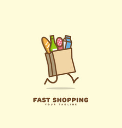 fast shopping logo vector image