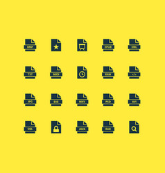 File icons set collection of software electronic vector