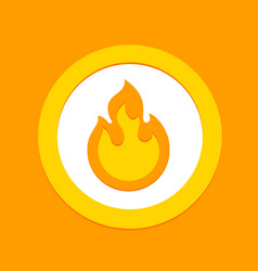 Fire flame sign symbol flammable warning or spicy vector