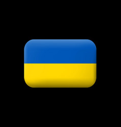 flag of ukraine matted icon and button vector image