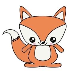 Fox kawaii cartoon design vector image
