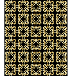 Gold pattern on black background 2 vector