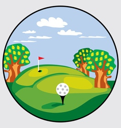 golf emblem vector image