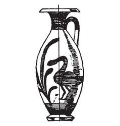 Greek lekythos is thus a narrow type jug vector