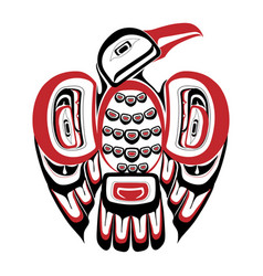 haida bird tattoo ornament in haida style isolat vector image