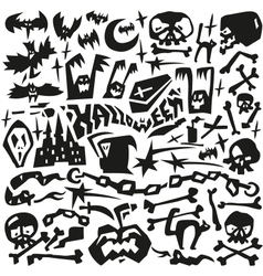 Halloween monsters - doodles vector image