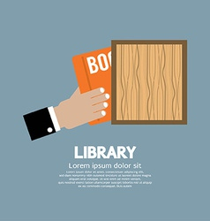 Hand Draw A Book From Shelf vector