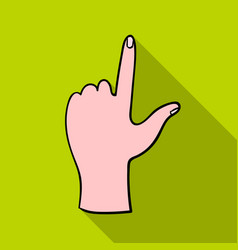 Hand touch icon in flate style isolated on white vector