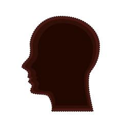 head human profile isolated icon vector image