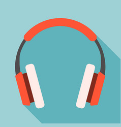 headphone flat design vector image vector image