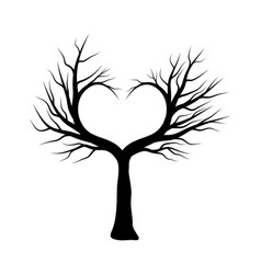 heart tree symbol icon design beautiful isolated vector image