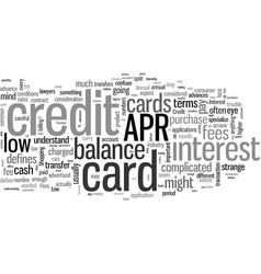 how to shop for a low apr credit card vector image