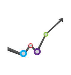 Isolated business graph vector