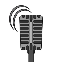 Isolated microphone of music concept design vector