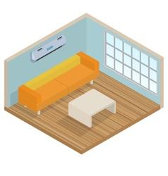 Isometric interior lounge room vector