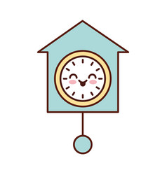 Kawaii clock pendulum decoration office vector