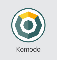 komodo cryptocurrency - colored logo vector image