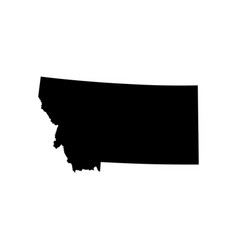 map of the us state of montana vector image