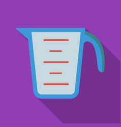 Measuring cup icon in flate style isolated on vector