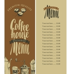 Menu of coffee house vector