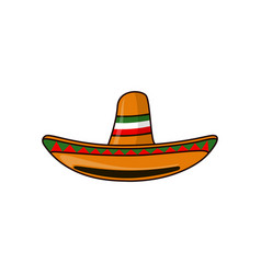 mexican sambrero feast for cinco de mayo hand vector image