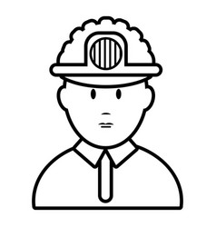 miner icon outline style vector image