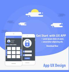 Mobile app ux design template concept vector