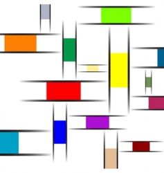 Mondrian abstract texture vector image vector image