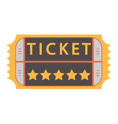 Movie ticket admit one vector