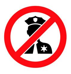 No entry police - icon vector