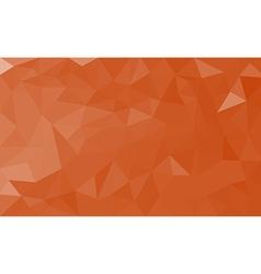 Orange polygon background vector image