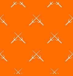 pair of sai pattern seamless vector image