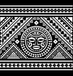 polynesian seamless geometric pattern vector image