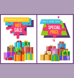 premium quality hot sale set vector image