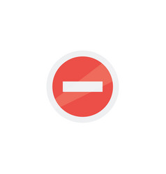 prohibiting sign icon isolated on background vector image