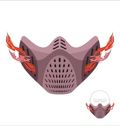 Protective sports mask Scary Monster mask or vector