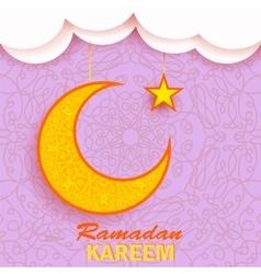 Ramadan Greetings Background Ramadan Kareem vector