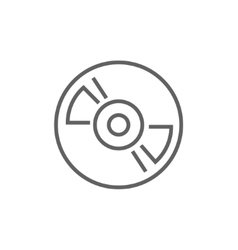 Reel tape deck player recorder line icon vector