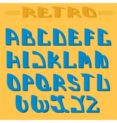 Retro styled font Design elements vector image