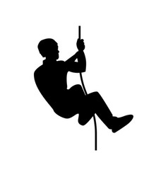 rock climber icon black color flat style simple vector image