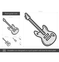Rock guitar line icon vector image