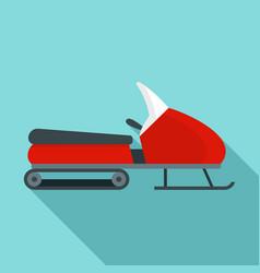 Santa snowmobile icon flat style vector