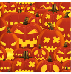 seamless halloween party pattern with hell scary vector image