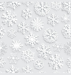 Seamless pattern paper snowflakes vector