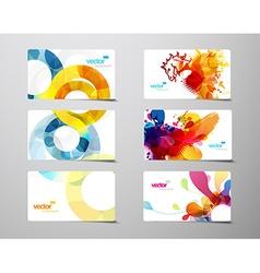 set abstract colorful splash and circle gift vector image